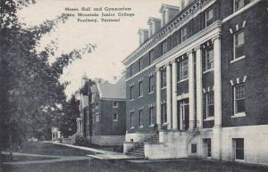 Vermont Poultney The Green Mountain Junior College Moses Hall And Gymnasium A...