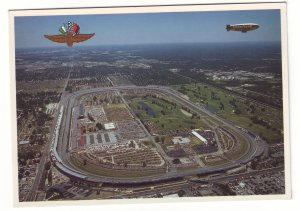 P1512 vintage unused photo postcard airview good yr blimp indianapolis speedway