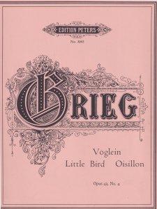 Grieg Little Bird Oisillon Voglein Classical Sheet Music