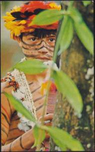 ecuador, Puyo, Young Native Indian Jibaro Tribe (1969) Ecuatoriana de Aviación