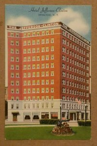 Hotel Jefferson-Clinton, Syracuse, N.Y. Postcard