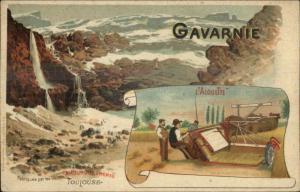Farming Plow Implement Gavarnie Toulouse France L'Alouette c1910 Postcard