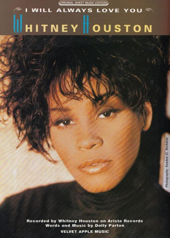Whitney Houston I Will Always Love You XL Sheet Music