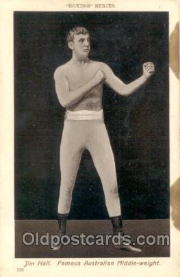 #113 Jim Hall Boxing Series Postcard Postcards  #113 Jim Hall