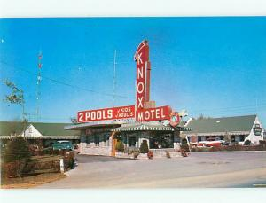 Vintage Post Card Knox Motel AAA Frank Radford Mgr Knoxville  TN  # 4085