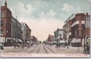 South Bend, Ind., Michigan Street with Horse drown wagons & Trolley tracks-