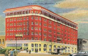 Postcard Henry Hotel Greensboro North Carolina