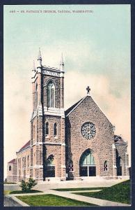St Patricks Church Tacoma WA unused c1910