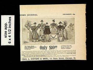 1894 Chas A Stevens Fashion Only $10 Finest Goods Vintage Print Ad 18773