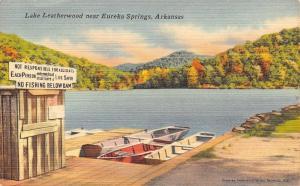 Eureka Springs AR Lake Leatherwood~No Fishing Below Dam~Must Have Lifesaver 1956
