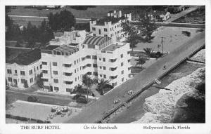 Hollywood Beach Florida Surf Hotel Birdseye View Antique Postcard K95422
