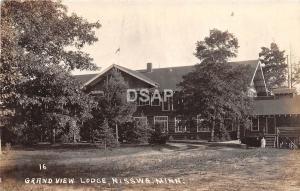 Minnesota Mn Real Photo RPPC Postcard 1940 NISSWA Grand View Lodge