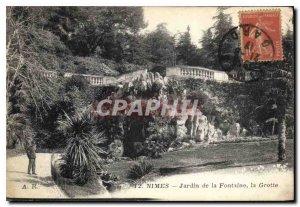 Postcard Old Nimes Fountain Gardens Cave