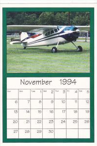 November 1994 Limited Editon Calendar Cardm AirShow '94 Cessna 195