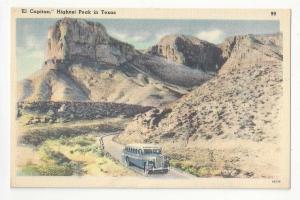 Texas El Capitan Signal & Guadalope Peaks Vintage 1950 Linen