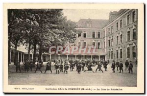 Old Postcard free Institution Combree The recreation yard