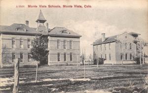 Monte Vista Colorado~Monte Vista School Buildings~1908 SL&Co B&W Postcard