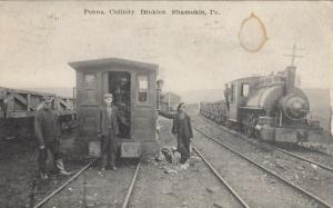 SHAMOKIN , Pa, 1908 ; Pennsylvania Colliery Dinkies. (Trains)