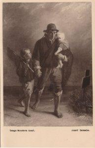 Langers Moeders Graf Josef Israels Antique Painting Postcard
