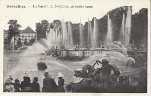 Palace of Versailles France early postcard bassin de Neptune grandes eaux
