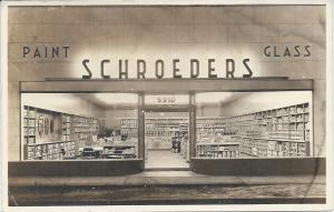 Schroder Paint and Glass Company, Detroit, MI, Early Real Photo Postcard, Unused