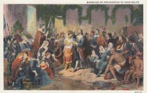 Marriage of Pocahontas to John Rolfe , 1910s