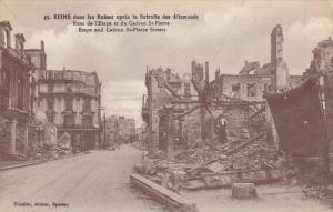 France Reims dans les Ruines apres la Retraite des Allemands Rues de l'Etape ...