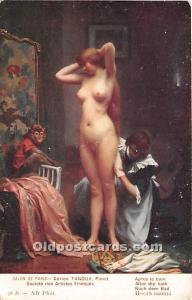 After the Bath Nude Postcard Artist Adrien Tanoux Unused