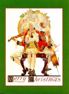 Norman Rockwell (Repro) - Merry Christmas: Concert Trio    Size: 6.625 X 4.625