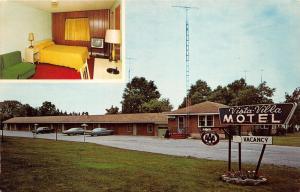 Ludington Michigan~Vista-Villa Motel on US 10 East~4 Radio Antennas~70s Cars