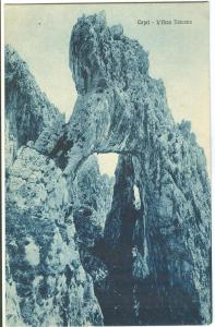 Italy, Capri, L´Arco Naturale, unused early 1900s Postcard