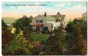Wm S Hart's Res. Hollywood CA