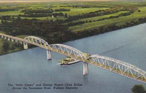 S S Delta Queen and George Rogers Clark Bridge Across Tennessee River Western...