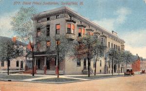 Springfield IL EEN&T David Prince Sanitarium~Long Bldg w/Dormers~Acmegraph~c1910