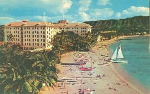 Moana Hotel, in Hawaii on the beach at Waikiki, Hawaii, u...