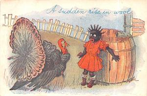Thanksgiving Postcard Old Vintage Antique Post Card Blacks Thanksgiving
