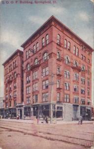 Illinois Springfield I O O F Building 1910