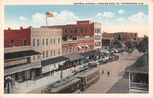 St Petersburg Florida Central Avenue Looking East Vintage Postcard AA11567