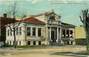 Waterloo Iowa~East Side Carnegie Public Library~Now City Office~1910 Postcard