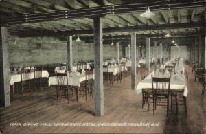 Goffstown NH Uncanoonuc Mountain Dining Hall c1910 Postcard
