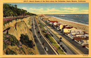 California Santa Monica Beach Homes Of The Stars Along The Palisades Curteich