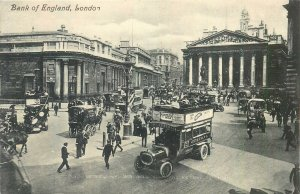 Postcard England London early XX century Bank of England