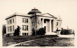 LP51 Library University  Maine     RPPC Postcard