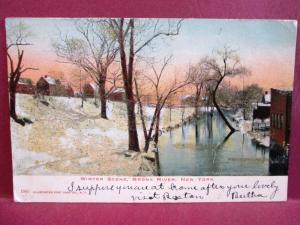 Postcard NY Winter Scene Bronx River Pre 1908