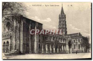Postcard Old Toulouse Church of Saint Sernin