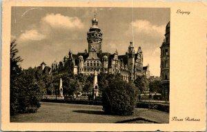 Leipzig Germany New City Hall Postcard Used (33406)