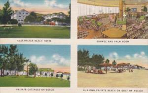 Florida Clearwater Beach Hotel Lounge Palm Room and Private Cottages