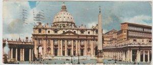 Italy Lazio Rome Roma St. Peter's Basilica 1956 Large Postcard