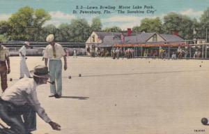 Florida St Petersburg Lawn Bowling Mirror Lake Park Curteich