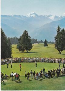 Post Card Switzerland Crans-sur-Sierre Le green du No. 16